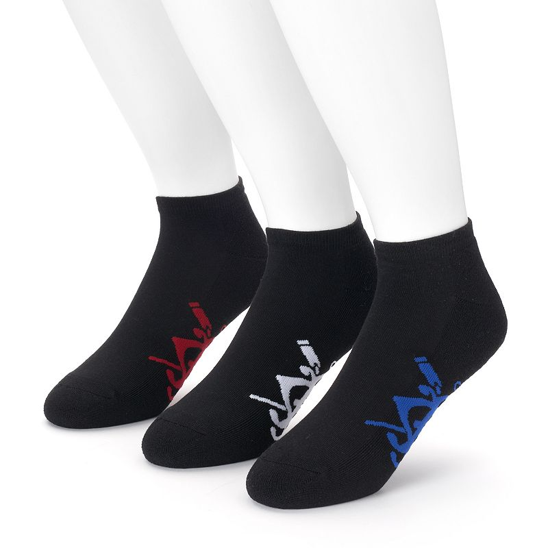 Men's Chaps 3-pack Soft Touch Cushioned No-Show Socks