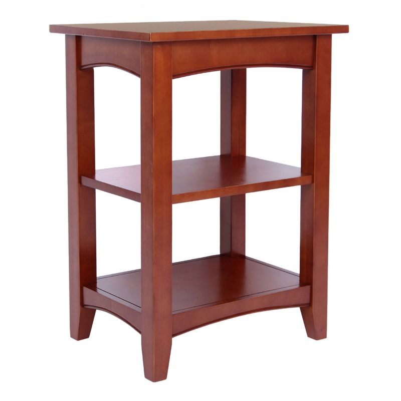 Alaterre Shaker Cottage 2-Shelf End Table, Red