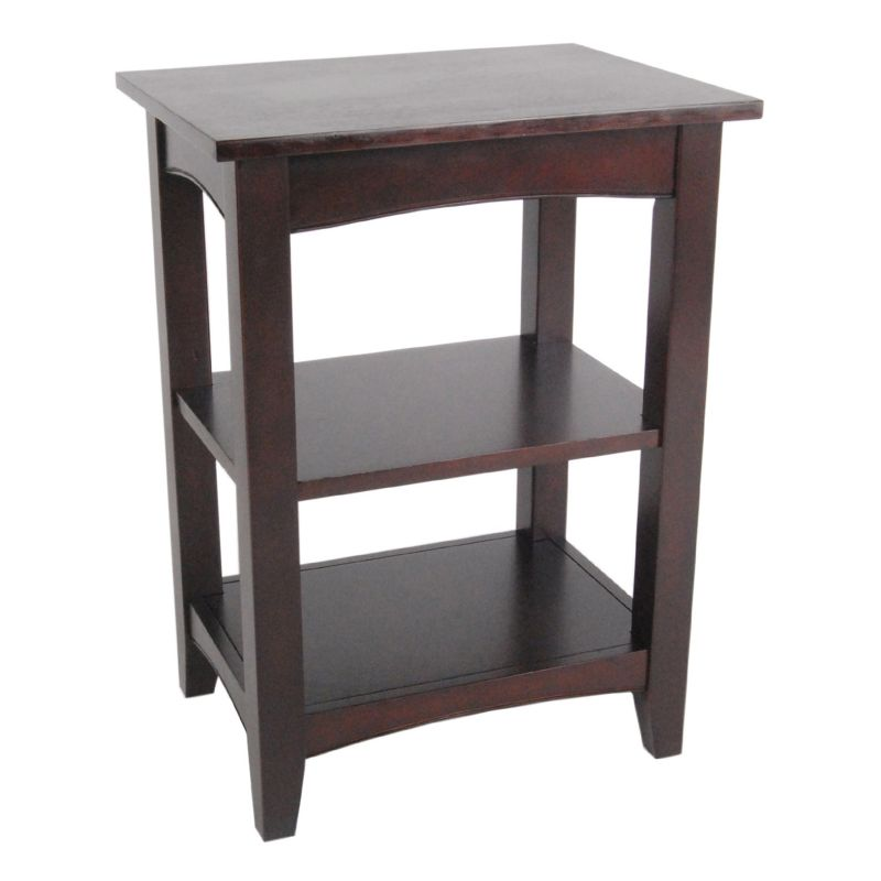 Alaterre Shaker Cottage 2-Shelf End Table, Brown