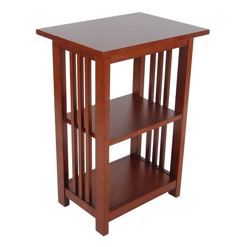 Alaterre Mission 2-Shelf End Table