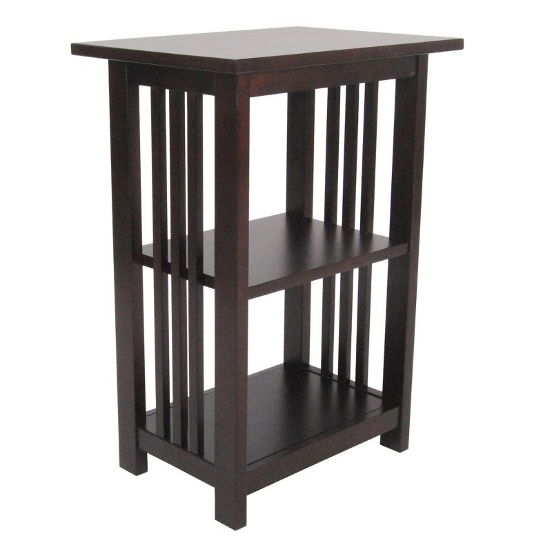Alaterre Mission 2-Shelf End Table, Brown