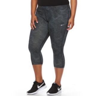 Plus Size Nike Essential Power Training Capri Workout Tights