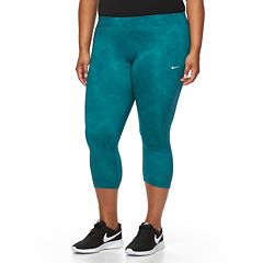 Plus Size Nike Essential Power Training Capri Workout Tights