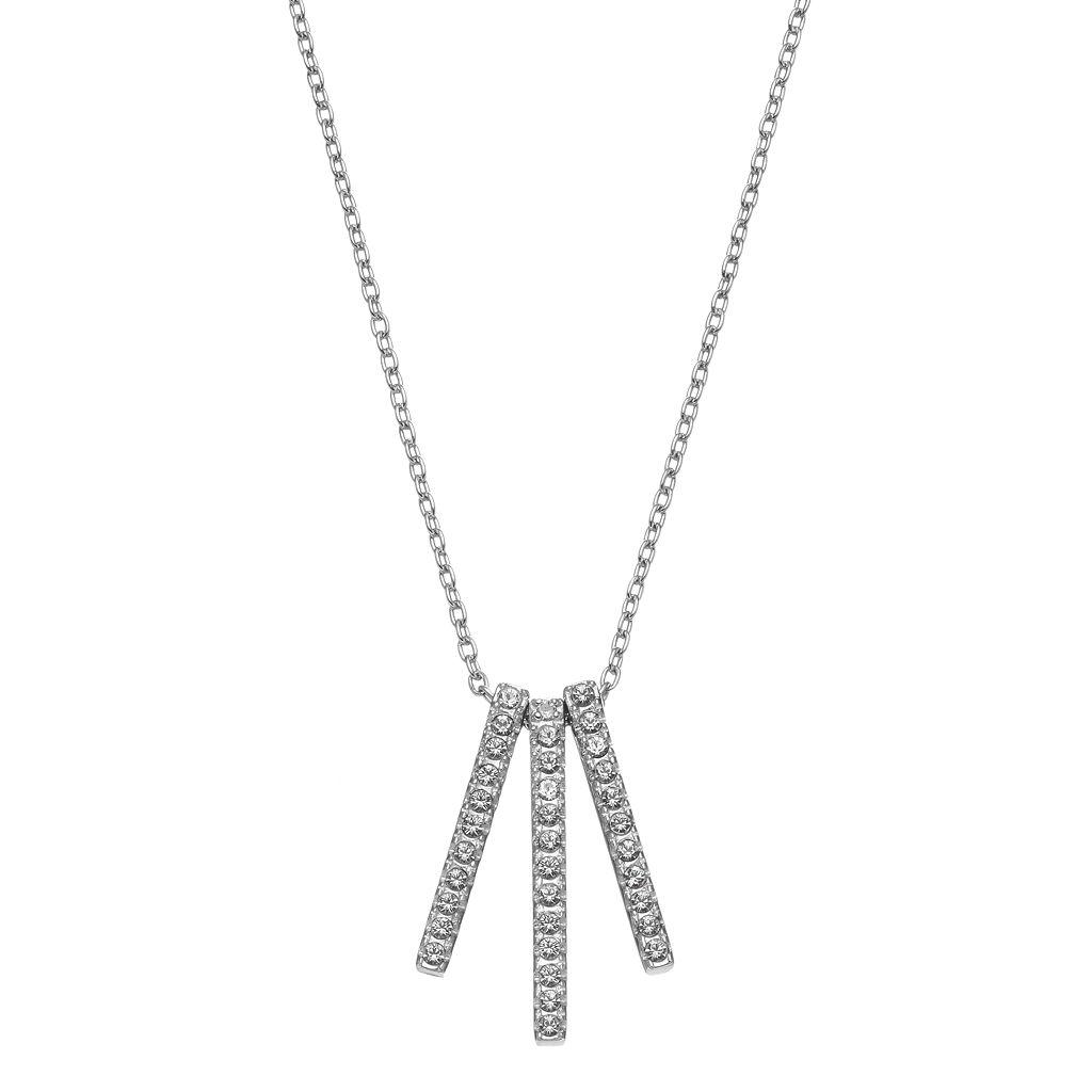 Diamond Essence Sterling Silver Diamond Accent Stick Pendant