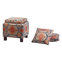 Madison Park Shelley Storage Ottoman Set