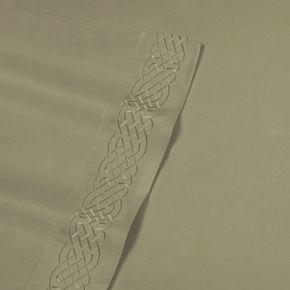 Love Knot Embroidery Microfiber Sheet Set