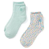 Earth Therapeutics 2-pk. Confetti & Solid Aloe Socks