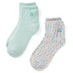 Earth Therapeutics 2 pkConfetti & Solid Aloe Socks