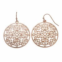 Apt. 9® Nickel Free Filigree Heart Drop Earrings