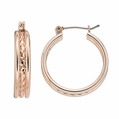 Apt. 9® Twisted Rope Nickel Free Hoop Earrings