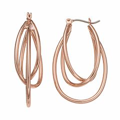 Apt. 9® Nickel Free Triple Oval Hoop Earrings