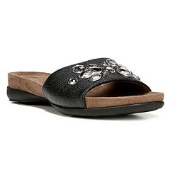 NaturalSoul by naturalizer Arial Women's Jeweled Slide Sandals