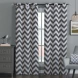 Avondale Manor Blackout Chevron Window Curtain Set - 38'' x 84''