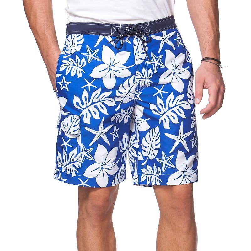 Big & Tall Chaps Hibiscus Print Board Shorts