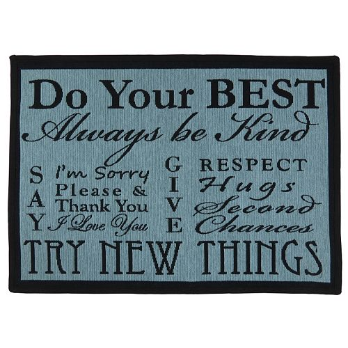 Park B. Smith ''Do Your Best'' Tapestry Rug - 19'' x 27''
