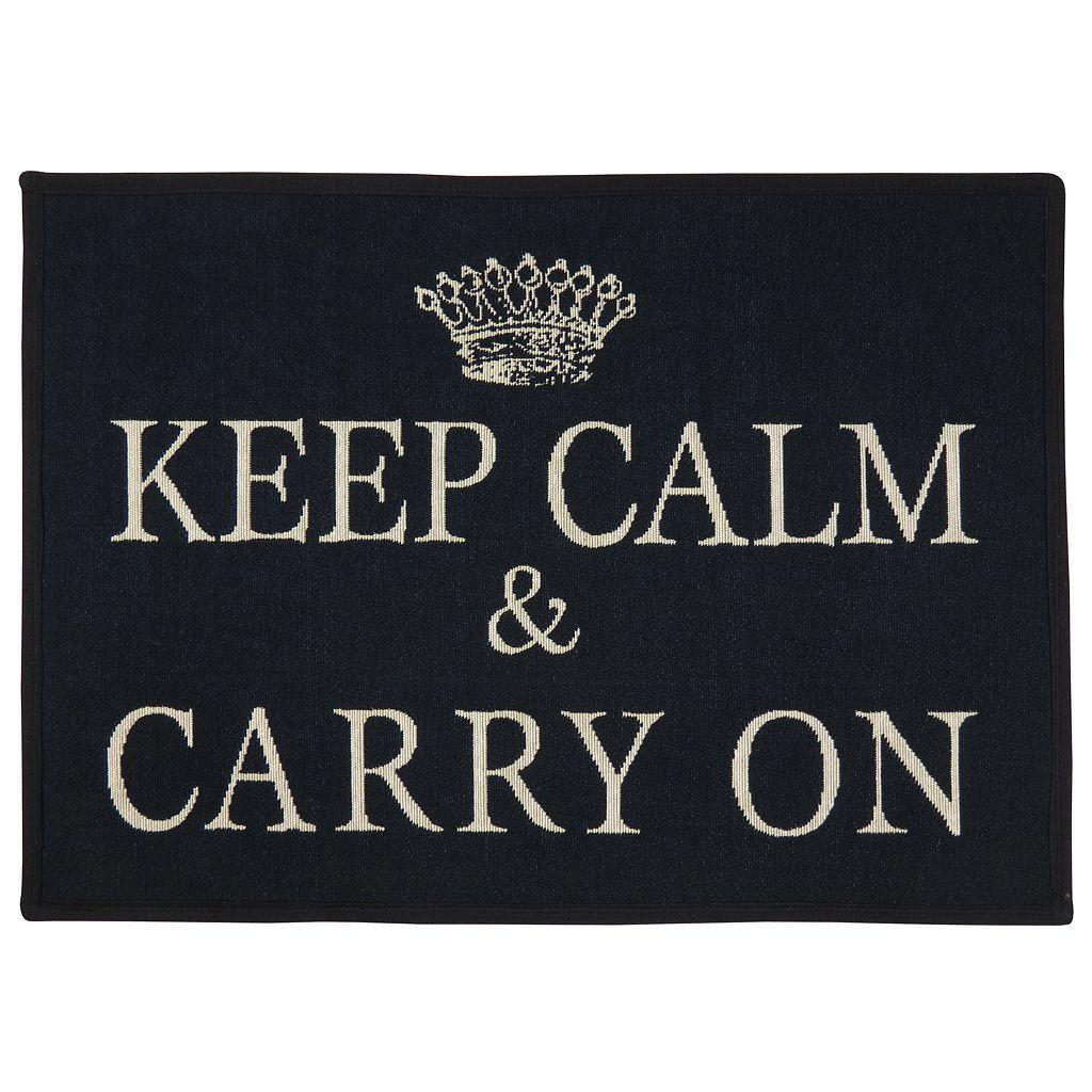 Park B. Smith ''Keep Calm'' Tapestry Rug - 19'' x 27''