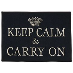 Park B. Smith ''Keep Calm'' Tapestry Rug - 19'' x 27''