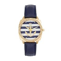 Women's Crystal Anchor Watch
