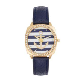 Women's Crystal Anchor Watch