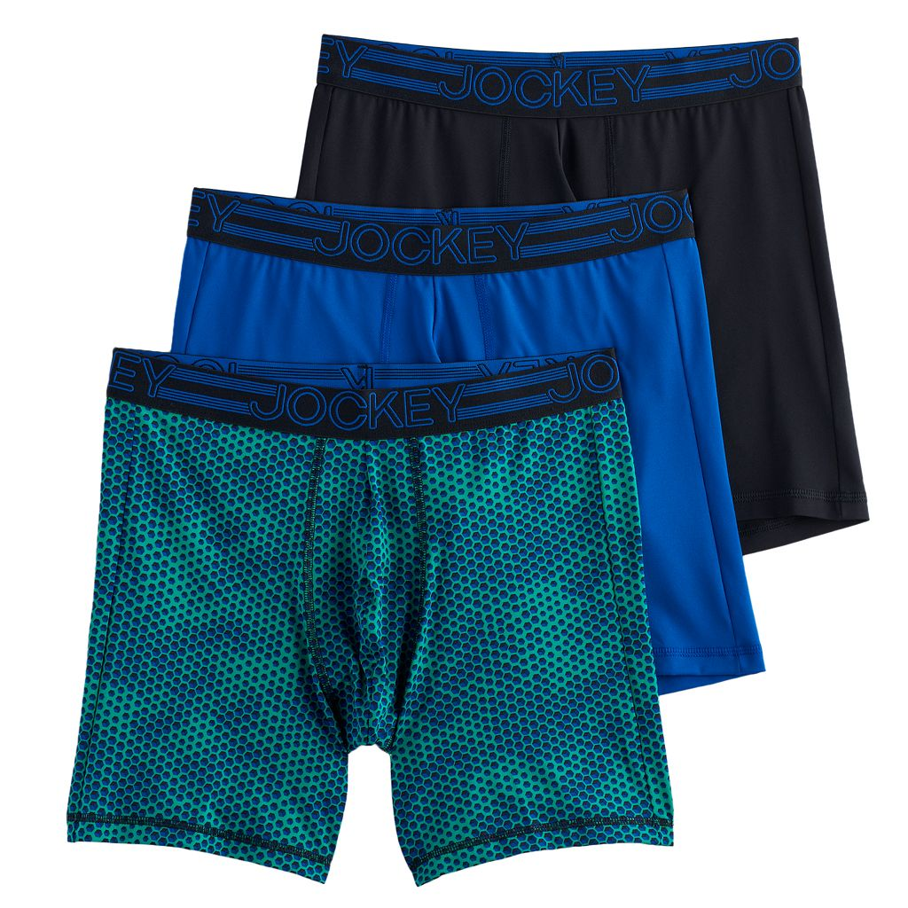 Men's Jockey 3-Pack Active Microfiber Midway Briefs