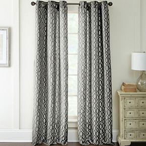 Pacific Coast Textiles 2-pack Deco Jacquard Window Curtains - 37'' x 84''