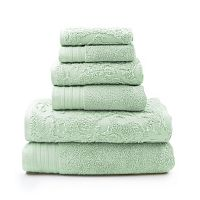 Pacific Coast Textiles 6-piece Leaf Swirl Jacquard Solid Towel Set