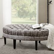 Madison Park Chase Surfboard Tufted Ottoman