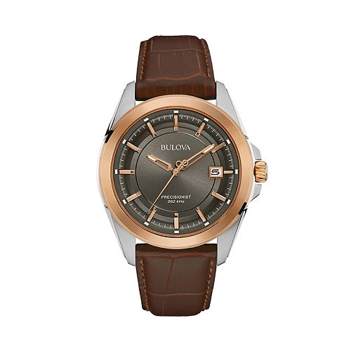 Bulova Men's Precisionist Leather Strap Watch - 98B267