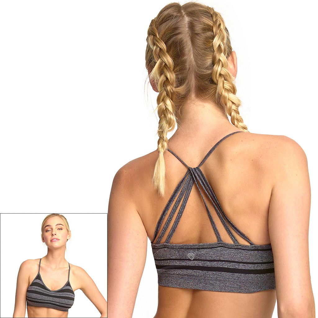 Colosseum Bra: Striped Seamless Low-Impact Sports Bra BCTB30508