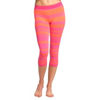 Women's Colosseum Striped Capri Yoga Leggings