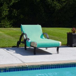 Linum Home Textiles Standard Size Chaise Lounge Cover with Side Pockets