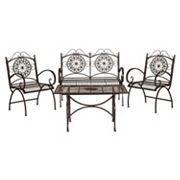 Safavieh Sophie Patio Chair & Coffee Table 4 pc Set