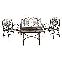 Safavieh Sophie Patio Chair & Coffee Table 4-piece Set