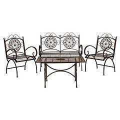Safavieh Sophie Patio Chair & Coffee Table 4 pc Set
