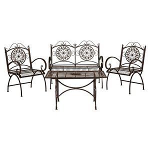 Safavieh Sophie Patio Chair & Coffee Table 4-piece Set