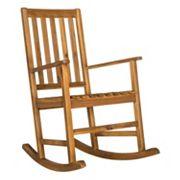 Safavieh Barstow Brown Patio Rocking Chair