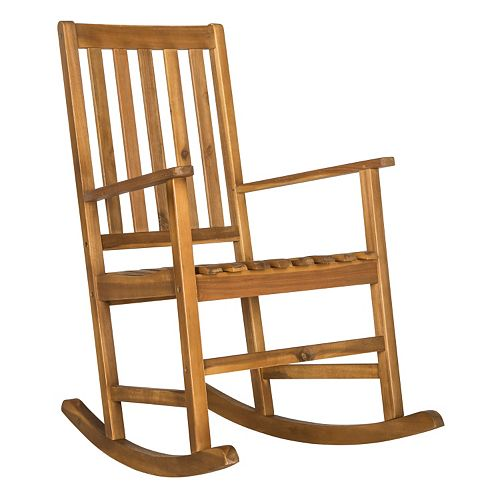 Safavieh Barstow Brown Patio Rocking Chair