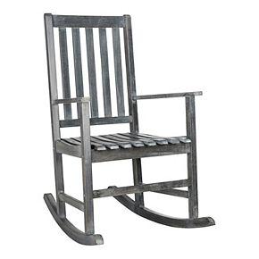 Safavieh Barstow Gray Patio Rocking Chair