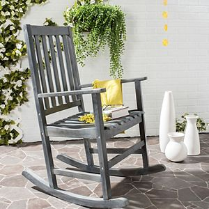 Safavieh Barstow Gray Patio Rocking Chair