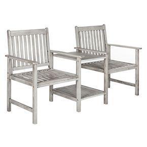 Safavieh Brea Twin Patio Seating Bench