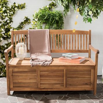 Safavieh Brisbane Patio Storage Bench