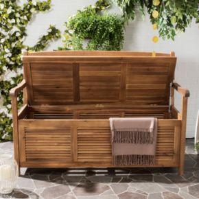 Safavieh Brisbane Patio Storage Bench