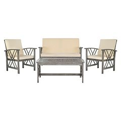 Safavieh Fontana Outdoor Patio Chair & Coffee Table 4 pc Set