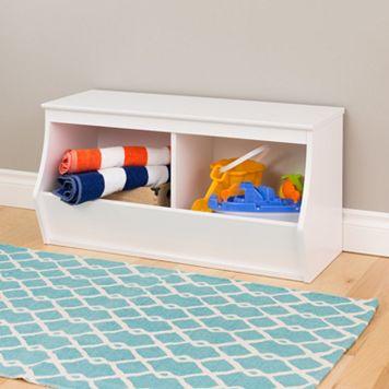 Prepac Monterey 2-Bin Cubby Storage