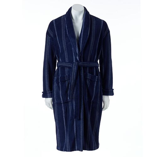 Men's Croft & Barrow Printed Plush Robe