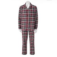 Big & Tall Croft & Barrow 2-pc. Plaid Flannel Pajama Set