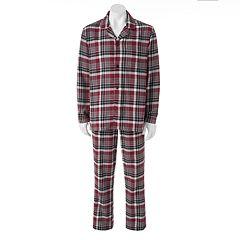 Big & Tall Croft & Barrow  2-pc. Plaid Flannel Pajama Set