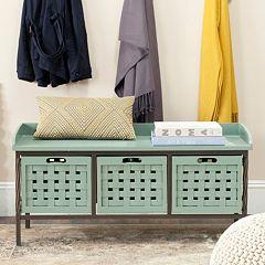 Safavieh Isaac Wooden Storage Bench