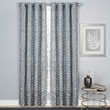 1888 Mills 1-Panel Palm Leaf Window Curtain