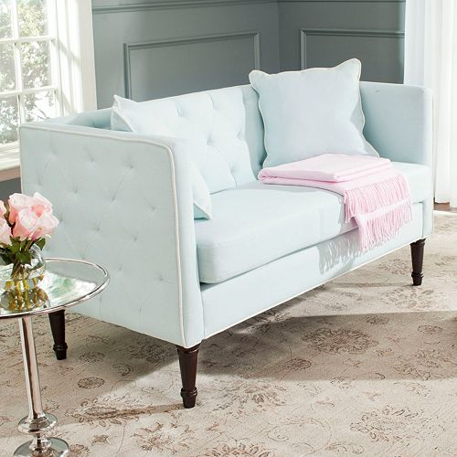 settee furniture loveseat front settees by loveseats safavieh tufted